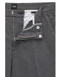BOSS - Gray Stretch Cotton Pant, Slim Fit   Kaito W for Men - Lyst