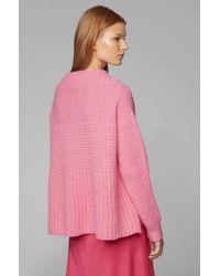 Pull Relaxed Fit en laine mélangée BOSS en coloris Pink