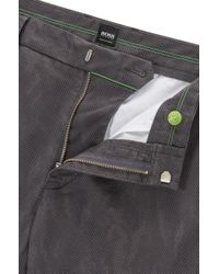BOSS Multicolor Slim-fit Printed Cargo Trousers In Stretch Cotton for men