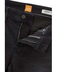 BOSS Orange Black Slim-fit Jeans In Super-stretch Denim for men