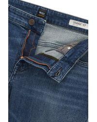 BOSS Blue Slim-fit Jeans In Comfort-stretch Denim