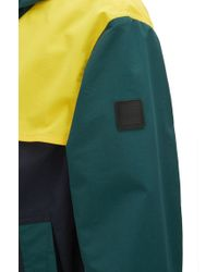 BOSS Blue Relaxed-fit Raincoat In Two-layer Performance Fabric for men