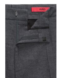 HUGO Gray Extra-slim-fit Chinos In Stretch Cotton for men