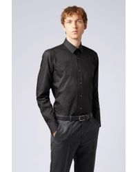 BOSS Black Regular-fit Business Shirt In Pure Cotton for men