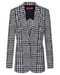 HUGO Multicolor Regular-fit Jacket In Glen-checked Jacquard