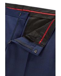 HUGO | Blue 'c-huge/c-genius' | Slim Fit, Nailhead Italian Extra-fine Virgin Wool Suit for Men | Lyst