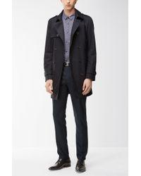 HUGO - Blue 'heldor' | Extra Slim Fit, Stretch Virgin Wool Pants for Men - Lyst
