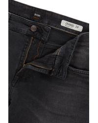 BOSS - Regular-fit Jeans In Black Comfort-stretch Denim for Men - Lyst