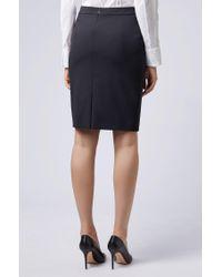 BOSS Black Stretch Wool Slim-fit Pencil Skirt