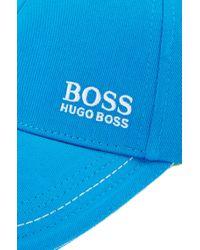 BOSS Blue Cotton Twill Hat | Cap for men