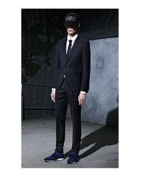 HUGO - Blue Rorschach Italian Silk Slim Tie for Men - Lyst