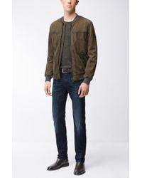 BOSS Orange - Blue Tapered-fit Jeans In Super-stretch Denim for Men - Lyst