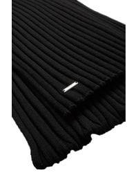 HUGO | Black Scarf In New Wool: 'zappo' for Men | Lyst