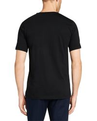 HUGO - Black Plain Slim-fit T-shirt In Cotton: 'danny' for Men - Lyst