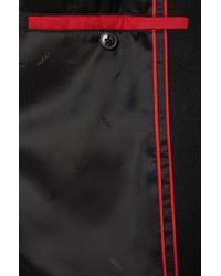 HUGO | Black Coat In New-wool Blend: 'migor2' for Men | Lyst