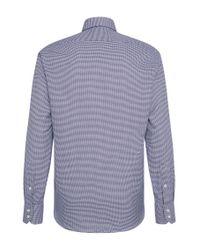 BOSS Blue Textured Regular-fit Shirt: 'gordon' for men