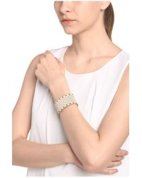 BOSS Orange - Natural Wide Leather Bracelet With Perforations: 'marlowe' - Lyst