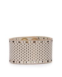 BOSS Orange | Natural Wide Leather Bracelet With Perforations: 'marlowe' | Lyst