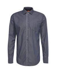 BOSS Orange | Blue Slim-fit Shirt In Lightweight Cotton: 'eslime_1' for Men | Lyst