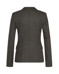 BOSS Gray Finely Patterned Blazer In Stretchy New Wool: 'julea1'
