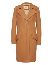 BOSS Orange - Brown Mottled Coat In New Wool: 'onati' - Lyst