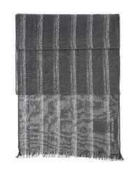 BOSS Orange | Black Striped Scarf In Cotton Blend: 'nabril' | Lyst