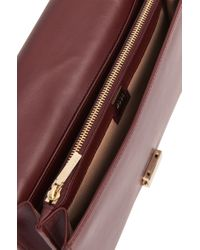 BOSS - Plain-coloured Leather Clutch Bag With Metal Chain: 'munich Mini-m' - Lyst