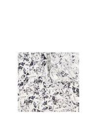 HUGO | White Patterned Pocket Square In Silk: 'pocketsquare 33x33cm' for Men | Lyst