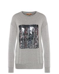 BOSS Orange | Gray Regular-fit Sweater In Stretchy Viscose Blend With Cotton: 'talook' | Lyst