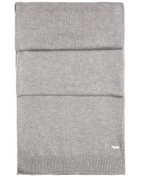 BOSS Orange | Gray Knit Scarf In Cotton: 'kapono' for Men | Lyst