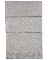 BOSS Orange - Gray Knit Scarf In Cotton: 'kapono' for Men - Lyst
