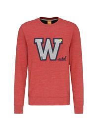 BOSS Orange | Red 'wariety' | Cotton Applique Sweatshirt for Men | Lyst