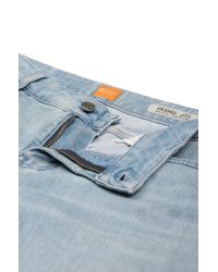 BOSS Orange - Blue Relaxed Jeans Shorts In Stretchy Cotton Blend: 'orange J70 Hershey' - Lyst