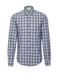 BOSS Green | Blue 'c Bustai' | Modern Fit, Cotton Button Down Shirt for Men | Lyst