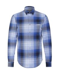 BOSS Green | Blue Regular-fit Check Shirt In Cotton: 'c-bansi' for Men | Lyst