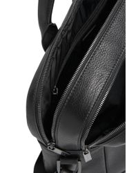 HUGO - Black Leather Bag With 2 Main Compartments: 'element_d Doc' for Men - Lyst