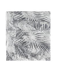 BOSS Orange   Gray Patterned Woven Cotton Scarf: 'nabamboo'   Lyst