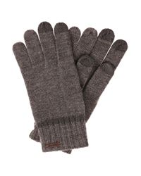 BOSS Orange   Gray 'graas'   Wool-blend Touch Screen Gloves   Lyst