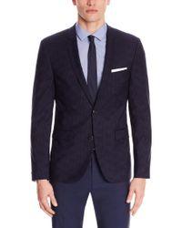 HUGO | Blue 'adris3' | Extra Slim Fit, Virgin Wool Sport Coat for Men | Lyst
