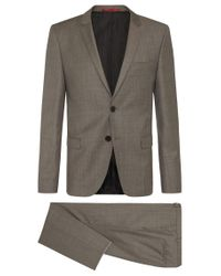 HUGO   Natural 'arti/helion'   Slim Fit, Virgin Wool Suit for Men   Lyst