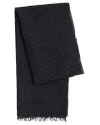 HUGO | Multicolor Scarf In Viscose And New Wool With Zigzag Pattern: 'men-z 502' for Men | Lyst