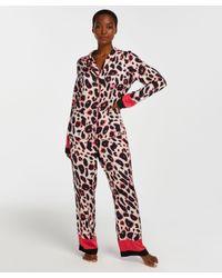 Hunkemöller Pyjamabroek Duckie in het Pink