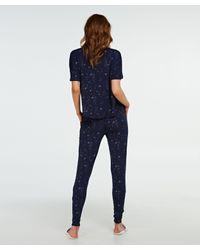 Pantalón de pijama de tejido de punto Hunkemöller de color Blue