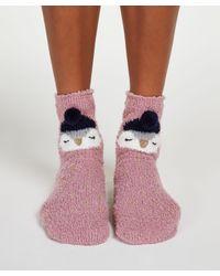 Hunkemöller Pink Christmas Cosy Socks