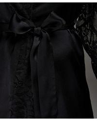 Kimono de seda Hunkemöller de color Black
