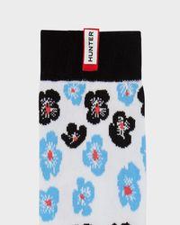 Hunter Multicolor Unisex Original Flower And Stripe Print Knee High Socks