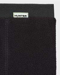 Hunter Black Unisex Field Fitted Boot Socks - Tall for men