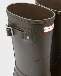 Hunter Green Original Short Rain Boots for men