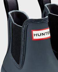 HUNTER Gray Women's Original Pulltab Lightweight Chelsea Boots