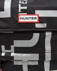 Hunter Black Original Reflective Logo Packable Backpack
